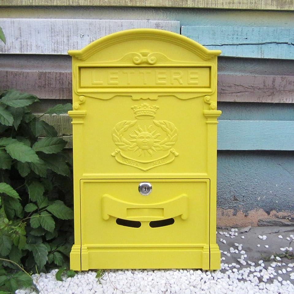 迷路逆に読みやすさKTYX ヨーロッパの別荘レターボックス屋外防水レターボックス壁創造的なポストボックス提案ボックスロック付きレトロメールボックス メールボックス (Color : H)