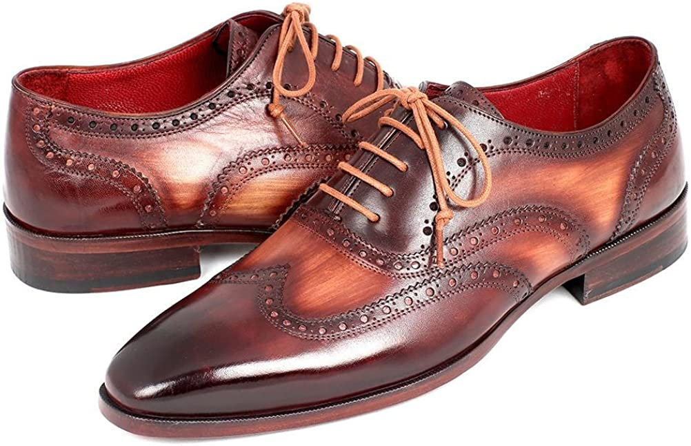 Paul Parkman Men's Two Tone Wingtip Oxfords Shoes (ID#PP22TX54)