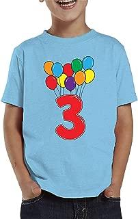 3 Year Old Birthday Balloons Toddler T-Shirt