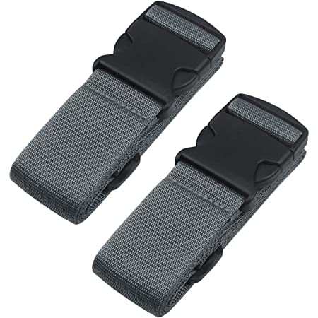 Heavy Duty Luggage Straps for Suitcases Packing Belts Travel Accessories Adjustable Bag Strap 2 Pack Grey