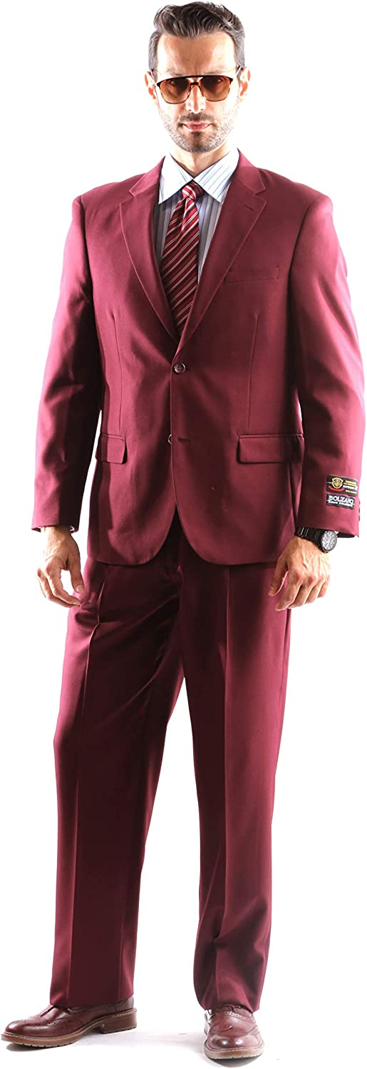 Bolzano Men's Single Breasted Two Button Dress Suit