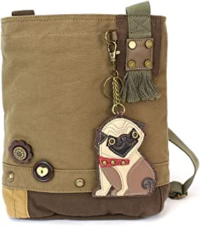 Womens' Canvas Patch Crossbody Handbag