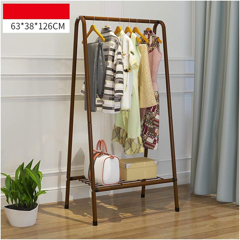 ZCYX Coat Rack Floor Bedroom Hanger Simple Modern Household Rack Living Room Creative Clothes Rack - Hanger Hooks (color   B)