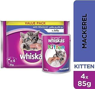Whiskas Mackerel in Jelly - 85 gm, Pack of 4