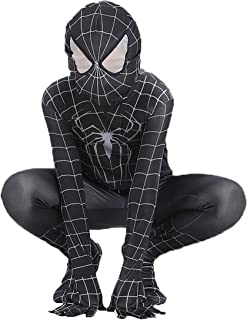 Boy's Venom Black Spiderman Costume Kids Cosplay Spandex Bodysuit Halloween Costume Boys