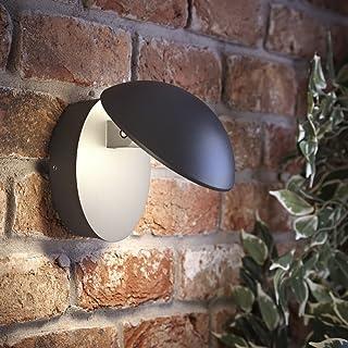 Biard Aplique LED Mural Piombino 13W Redondo Antracita Interior/Exterior – Jardín Baño Resistente al