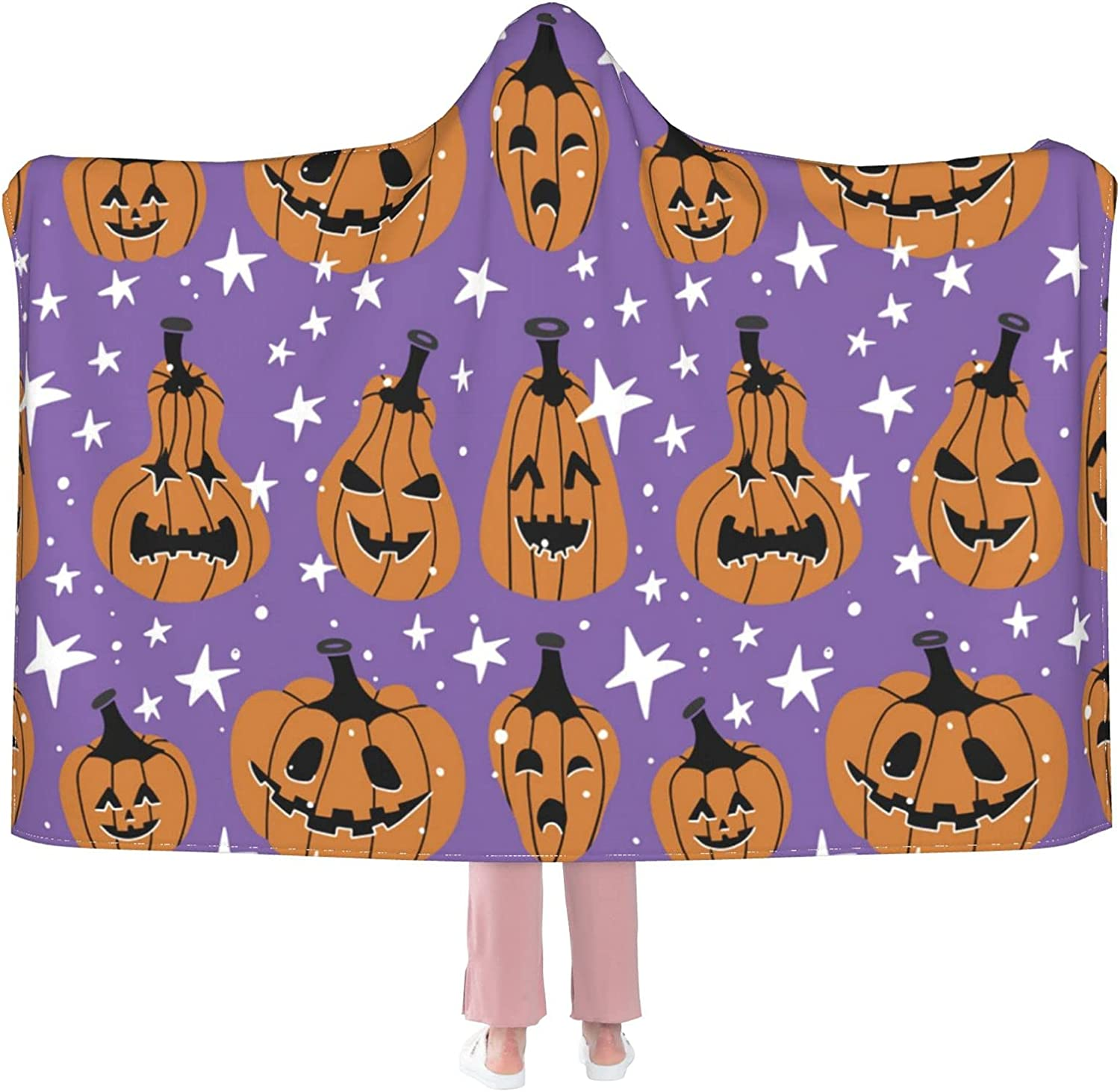 Sordiw Halloween Pumpkin Hooded Blanket Soft S Flannel New products world's highest quality popular Super Genuine for