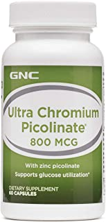 GNC Ultra Chromium Picolinate 800mcg, 60 Count, Supports Glucose Utilization