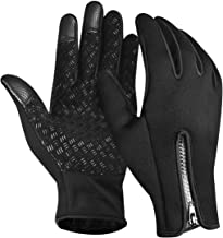 Waterproof Cycling Gloves- Windproof Touchscreen Gloves Men Women in Cold Weather