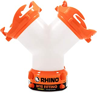 Camco RhinoFLEX RV Wye Fitting with 360 Degree Swivel Ends, Allows Sewer Hose and Lug Fittings Connection, Odor Protection...