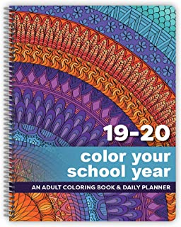 Coloring Planner for The 2019-2020 School Year 8.5 x 11 Inches