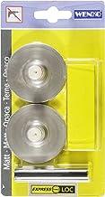 WENKO Express-Loc® Adapter Matt Premium - set van 2, zelfklevende push-pads, bevestiging zonder boren, kunststof (ABS), 5 ...