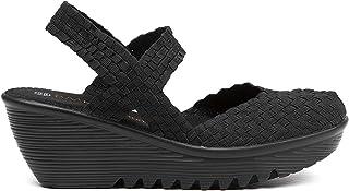 B M Bernie Mev New York Women's Wedge Sandals - Una Sandalia de Punta Cerrado, Abierto atras y Ligera, con Plantilla de Me...
