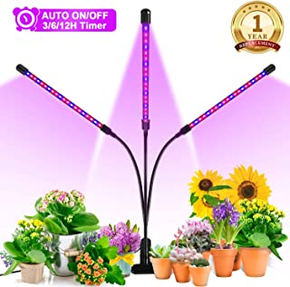 Grow Light, Ankace 60W Tri Head Timing 60 LED 5 Dimmable Levels Plant Grow Lights for..