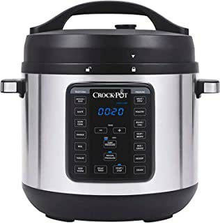 Crock-pot 8-Quart Multi-Use XL Express Crock Programmable Slow Cooker with Manual Pressure, Boil & Simmer with Extra Seali...