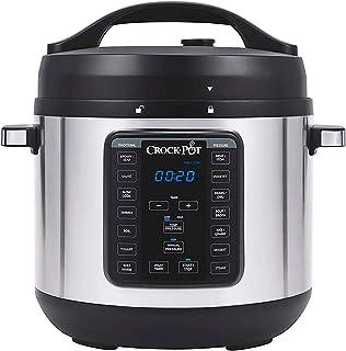 Crock-pot - Olla lenta programable multifunción XL Express Crock de 8 cuartos con presión manual, hervir y cocinar a fuego...