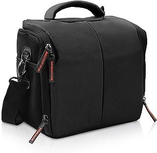 FOSOTO カメラケース 防水 カメラバッグ 一眼レフ 3WAY 大容量 三脚収納 デジタルカメラ用 ショルダーバッグ レインカバー付き Nikon D5600 D5300 D7500 D850 D810 D750 Zシリーズ Canon EOS 5D Mark IV EOS KISS X9i X8i X7i Olympus E-M5 III E-M10 PEN-F E-M1 Sony a7 a7R A6300 Panasonic GH5 G9 LX10等対応 仕組み調整でき ナイロン製 ブラック