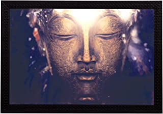 eCraftIndia 'Peaceful Lord Buddha' Satin Matt Texture UV Art Painting (Synthetic Wood, 36 cm x 25 cm)