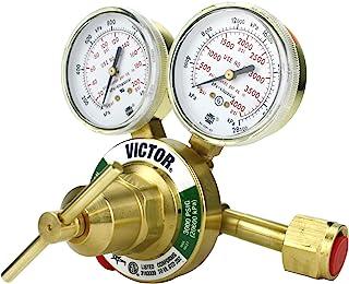 VICTOR Heavy Duty Oxygen Regulator Model: 350-125-540 - Delivery Rate: 5-125 psi - CGA-540 - Full Brass - Genuine Victor