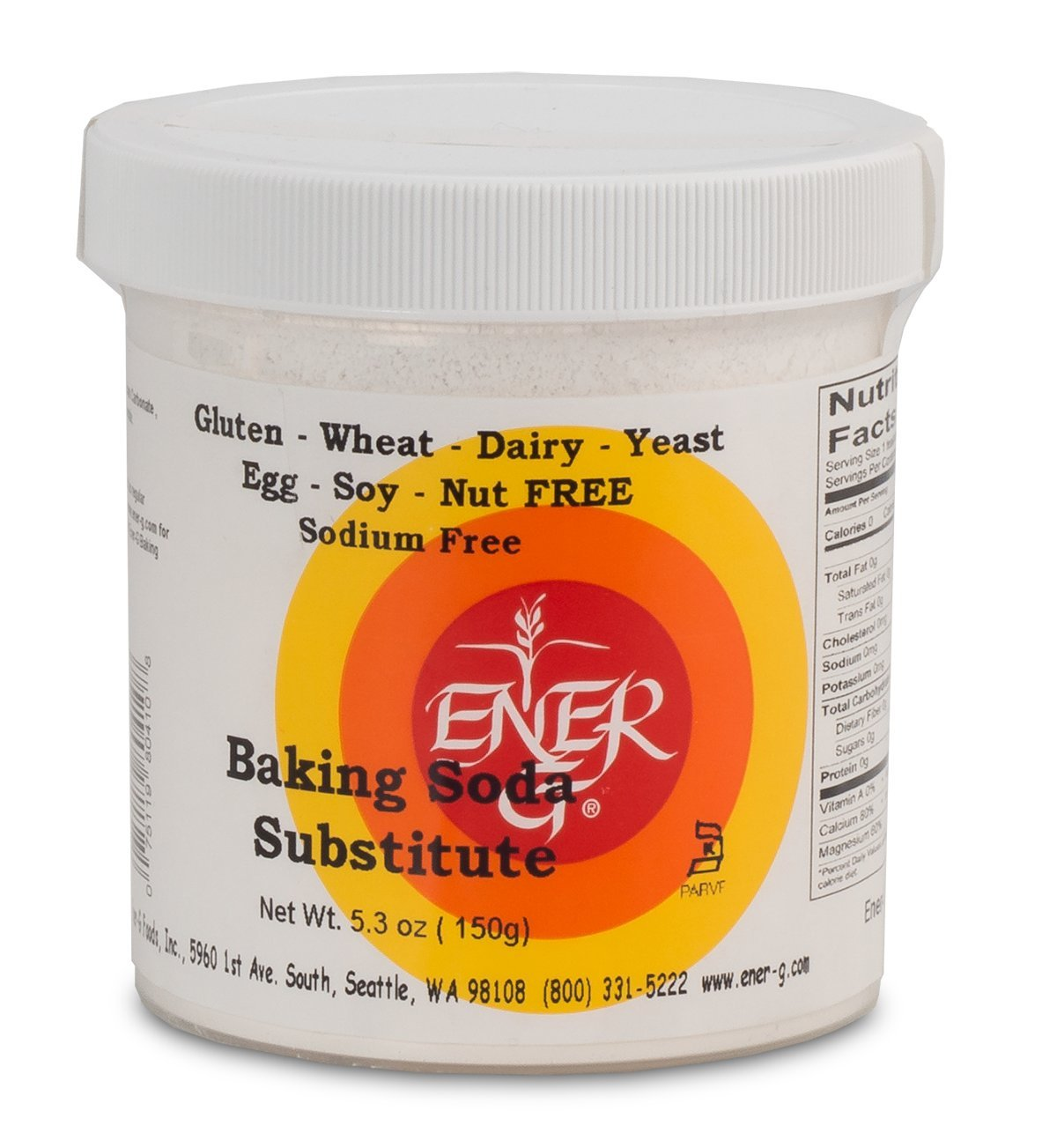 Ener-G Foods favorite Baking Oakland Mall Soda Substitute