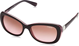 VOGUE Women's VO2943SB Butterfly Sunglasses, Top Brown/Opal Pink/Pink Gradient Brown, 55 mm