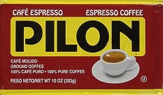 Pilon Espresso 100 % Arabica Coffee, 10-Ounce Bricks (Pack of 4)