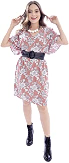 Vestido Mania de Sophia Curto Floral Salmão