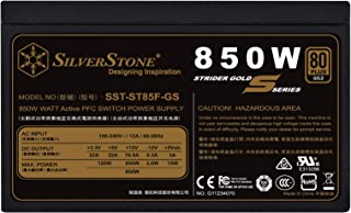 SilverStone Technology 850W Computer Power Supply PSU Fully Modular with 80 Plus Gold & 140mm Design Power Supply (SST-ST8...