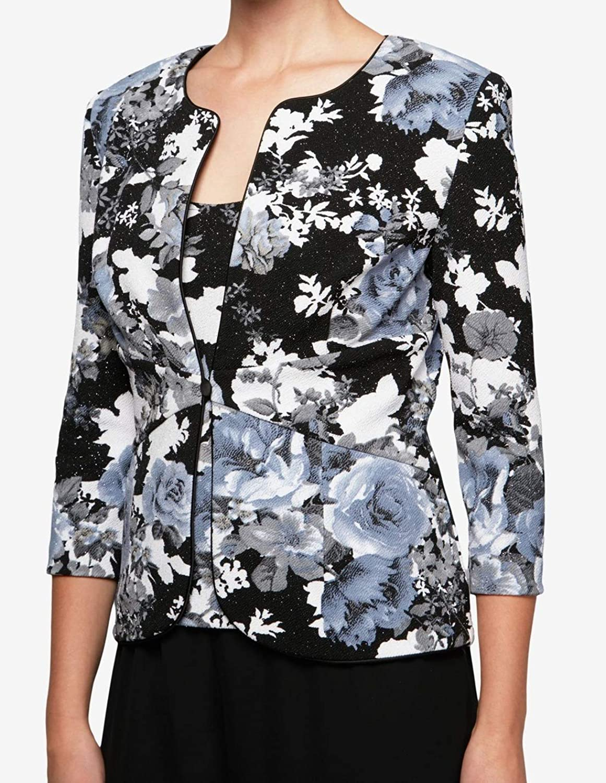 Alex Evenings Womens 2PC Business Wear OneButton Blazer