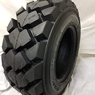 (1-TIRE) 10-16.5 RS-103 Skid Steer Loader Tire, 12 PLY