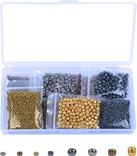 BELIOF 2800 Pcs Perles de Rocaille en Verre 2mm 4mm Perle Rocaille Assortiment en 4 Couleurs pour Bricolage Bijoux DIY Fab...