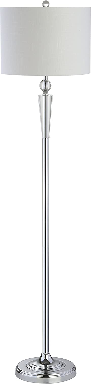JONATHAN Y JYL2022A Reese Crystal Table Lamp, Silver