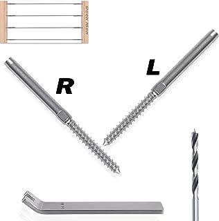 Deck Man Left&Right Handed Thread lag Screws for 1/8