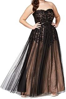 فستان طويل رسمي للسيدات من City Chic مع خط رقبة على شكل قلب في فستان رسمي من التول
