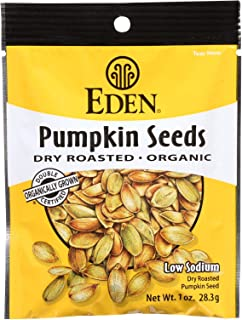Eden Foods Organic Dry Roasted and Roasted Spicy Pumpkin Seeds, 1 Ounce - 12 per case.