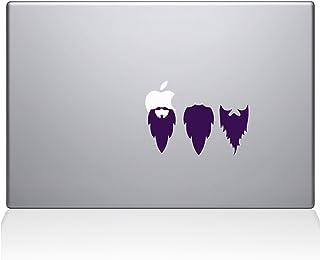 "The Decal Guru 2038-MAC-15X-LAV Apple Beards Decal Vinyl Sticker, 15"" MacBook Pro (2016 & Newer), Lavender"
