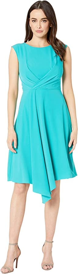 Cap Sleeve Solid A-Line Dress