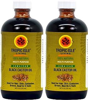 Tropic Isle Living- Jamaican Black Castor Oil-8oz Glass Bottle (2 Pack)