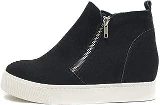 Taylor Hidden Wedge Booties Fahsion Sneaker Shoes Side Zipper