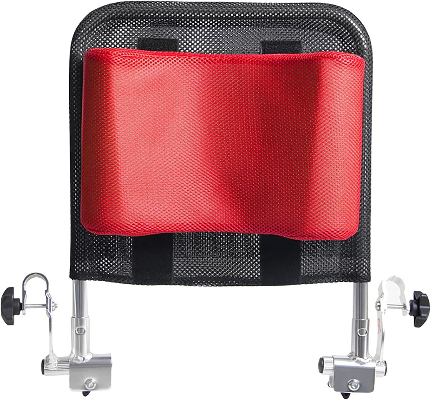 Reposacabezas para silla de ruedas, soporte para el cuello, cómodo cojín para el respaldo del asiento, altura y ángulo ajustables y portátil para adultos, silla de ruedas de viaje (ancho 16