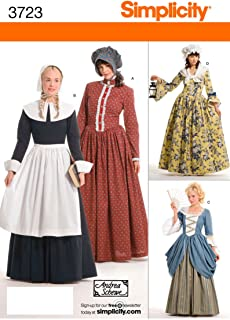 Simplicity Historical Dresses Sewing Pattern Costumes for Women by Andrea Schewe, Sizes 14-16-18-20-22