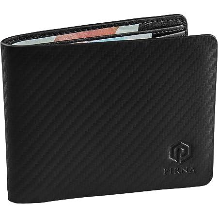 RFID Wallet for Men, Slim Bi-Fold Carbon Credit Card Holder with Gift Box, Men's Wallet (Carbon Fiber)