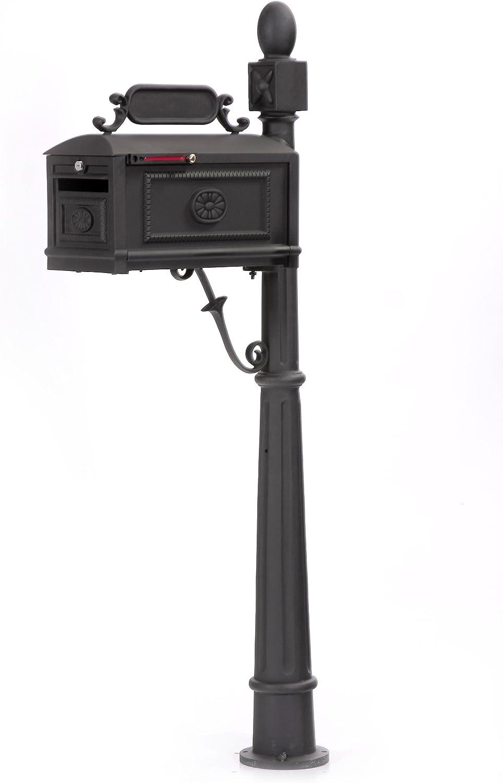 Locking Contemporary Decorative Cast Aluminum Better Box Mailbox
