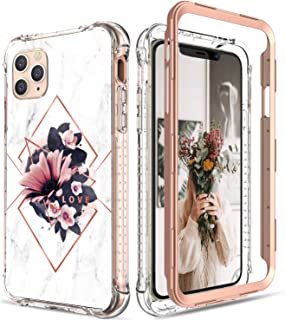 Digital Hutty Case for iPhone 11 Pro Max,Secure Stylish Series Case Without Built-in Screen Protector for Apple iPhone 11 Pro Max 6.5 Inch 2019 Release Flower (Purple)