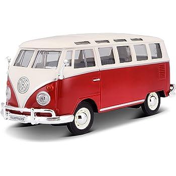 VW T1 Kasten 1:24 MotorMax  *NEW* Volkswagen Bulli rot//schwarz