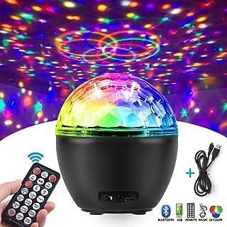 Luces Discoteca, FOCHEA 16 Colores USB Bola de Discoteca Bluetooth con Control Remoto para Cumpleaños, Discoteca, Fiesta, Bar, Navidad, Bodas