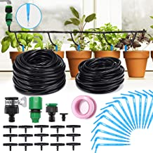 King DO Way Plant Watering System Plant Waterer Self Watering Spikes System with 2 Tubing,Water Micro Flow Dropper Irrigation Kit for Outdoor Indoor Flower or Vegetables