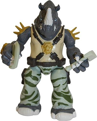 Teenage Mutant Ninja Turtles TMNT - 5589 - Figura de acción de Transformable Animación - Partido Mix N '- Rocksteady - 12 cm