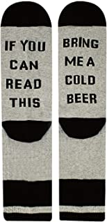 If You Can Read This Novelty Funny Saying Beer Crew Socks, Beer Gift for Women