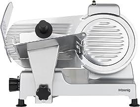 H.Koenig Trancheuse électrique à jambon, viande, saucisson, charcuterie MSX220, professionnelle, précise, épaisseur de la ...